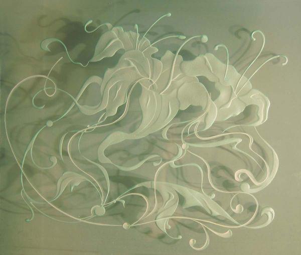 Пескоструйное изображение на стелкле
